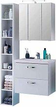 Badezimmer Kombination mit Regal Weiß (3-teilig)