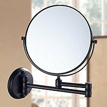 Badezimmer Kosmetikspiegel Voll Kupfer Teleskop Wandmontage Einklappen Schminkspiegel Erweiterung Doppelseitige Spiegel