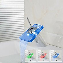 Badezimmer Led Wasserhahn Deck Montiert Chrom