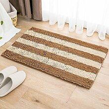 Badezimmer Matte 50 * 80cm Türmatten Anti-Rutsch-absorbierende Bodenmatten Bad Matratze Schlafzimmer Matte ( Farbe : V )