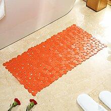 Badezimmer Matte, Badematte, Badezimmer, Rutschfeste Matte, 54 * 54 Cm, Orange