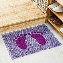 Badezimmer Matte Eingang Tür Matratze Badezimmer Tür Matte Matte Badezimmer Küche Anti - Rutsch Matte ( Farbe : L , größe : S )