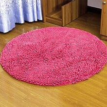 Badezimmer Matte Matratze, Badezimmermatte, saugfähige Matte, Schlafzimmer Matratze, Badezimmermatte, 120cm Matte, Round Mat ( Farbe : Rot )