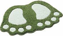 Badezimmer Matte Mats Matratze Badezimmer Saug Pad Tür Matte Wc Decke Küche Teppich ( Farbe : Grün , größe : 48*67cm )