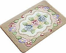 Badezimmer Matte Matten Eingang Teppich Toilettenmatten Küchenmatten Badezimmer Hausmatte Teppich ( Farbe : Kaffee - farbe , größe : 60*90cm )