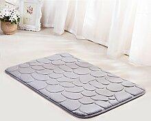Badezimmer Matte Tür Matratze Fußmatte Badezimmer Eingangshalle Bad Anti-Rutsch-absorbierende Schwamm Matte Schlafzimmertür Türmatte (60 * 40cm) ( Farbe : G )