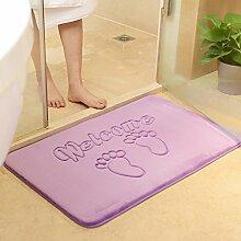 Badezimmer Matte Tür Matratze Tür Matratze Bad Vorraum Bad Anti-Rutsch-absorbierenden Schwamm Matten Schlafzimmertür Polster (60 * 90cm) ( Farbe : A )