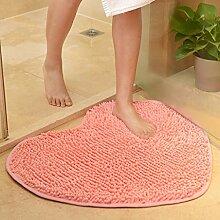 Badezimmer Matte Türmatten, Badezimmer Foyer Badezimmermatte, absorbierende Matte, Schlafzimmer Matratze, Bad Matte, 60 * 70cm Matte ( Farbe : Pink1 , größe : M )