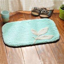 Badezimmer Matten Türmatten Schlafzimmer Flur absorbierende Matten rutschfeste Matten für Bad und Küche 35*50cm Hellblau