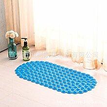Badezimmer mit Badewanne Anti-Rutsch-Pad pvc Badezimmertür mat rutschfeste Füße massage Dusche Matten , blau, 35cm*70cm Blasen ellipse