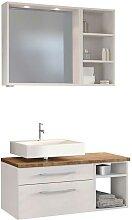 Badezimmer Möbel in Weiß und Wildeiche Dekor LED