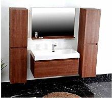 Badezimmer P1003 mahagoni Badmöbel Badezimmermöbel Spiegel Waschbecken Schrank
