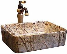Badezimmer-quadratisches Waschbecken Retro