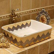 Badezimmer rechteckiges europäisches Waschbecken