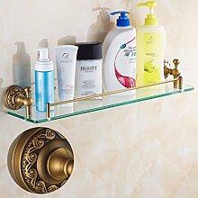 Badezimmer-Regal antikes Badezimmer-Regal volles