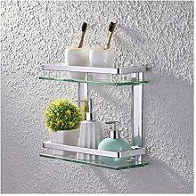 Badezimmer Regal Ausgeglichenes Glasregal 2-Tier,