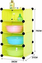 Badezimmer Regal Badezimmer Plastik WC Toiletten Badezimmer Abstellraum Rack Waschbecken Landung ( Farbe : Grün )