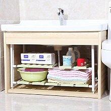 Badezimmer-Regal/Duschregal, Eckwaschbecken unter