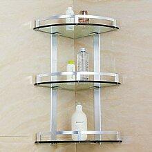 ✨ Badezimmer-Regal-Eckrahmen-Kosmetik-Regal mit