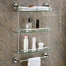 Badezimmer Regal Glas, Ausgeglichenes Glas Regal