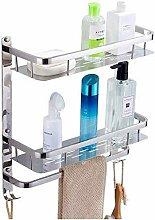 Badezimmer Regal Glas, Badregal 304 Edelstahl