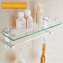Badezimmer-Regal, quadratisch, Aluminium und
