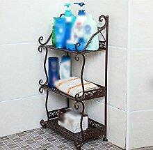 Badezimmer Regalboden Badezimmer Regal Handtuch Regal Regal Regal Magazin Stand ( Farbe : Bronze , größe : 32*21*77cm )