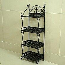 Badezimmer Regalboden Badezimmer Regal Handtuch Regal Regal Regal Magazin Stand ( Farbe : Schwarz , größe : 32*21*88cm )