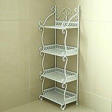 Badezimmer Regalboden Badezimmer Regal Handtuch Regal Regal Regal Magazin Stand ( Farbe : Weiß , größe : 32*21*88cm )