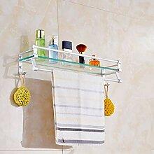 Badezimmer-Regale aus Glas, mit Stange, Bad oder