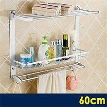 Badezimmer Regale Badezimmer Sanitär Regal Hängen Toilette Handtuchhalter Bad Handtuchwärmer Pylon Drei Regale ( Farbe : 1# )