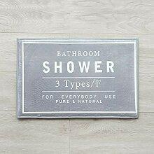Badezimmer rutschfester saugfähiger Teppich weich
