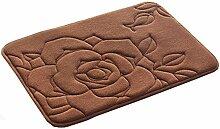 Badezimmer Saugfähige Tür-Mat Eintrag Mat Fußmatte Boden Teppich, Kaffee