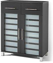 Badezimmer Schrank 2 Türen, 2 Schubladen Ted, grau