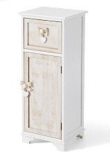Badezimmer Schrank stehend Carlotta, weiß