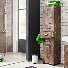 Badezimmer Seitenschrank in Holzpaletten Optik