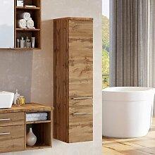 Badezimmer Seitenschrank in Wildeichefarben