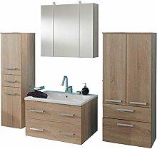 Badezimmer Set 4-tlg »RIALTO« in Eiche sägerau Nachbildung