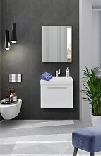 Badezimmer Set 50 cm 2 teilig | Weiß
