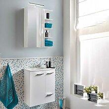 Badezimmer Set für Gäste WC Weiß (2-teilig)