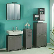 Badezimmer Set im Dekor Esche Grau LED Beleuchtung