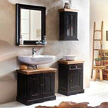 Badezimmer Set im Kolonial Design Schwarz und