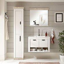 Badezimmer Set in Piniefarben und Weiß