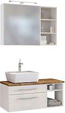 Badezimmer Set in Weiß und Wildeiche Dekor