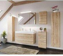 Badezimmer Set mit 100cm Doppel-Waschtisch