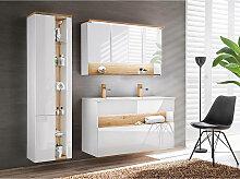 Badezimmer Set mit Doppel-Waschtisch inkl LED