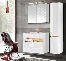 Badezimmer Set mit Keramik-Waschtisch inkl LED in