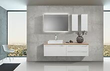 Badezimmer Set mit LED Lichtspiegel, Unterschrank
