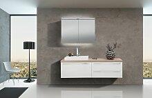 Badezimmer Set mit Spiegelschrank und Waschbecken