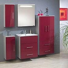Badezimmer Set »SINAO195« rubinrot Hochglanz